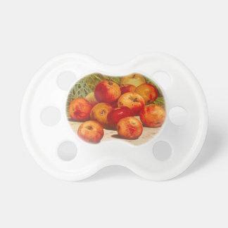Chupete Pacificador de la etiqueta de la fruta del vintage
