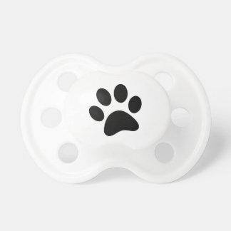 Chupete Pacificador de la impresión de la pata del perro