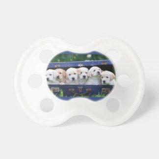 Chupete Pacificador del bebé con seis perritos lindos
