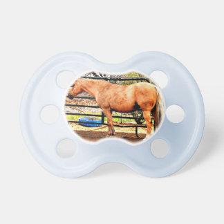 Chupete Pacificador del bebé del caballo del Palomino