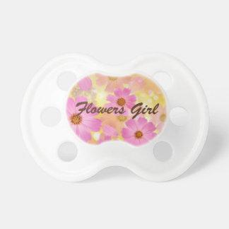 Chupete Pacificador del bebé del chica de flores