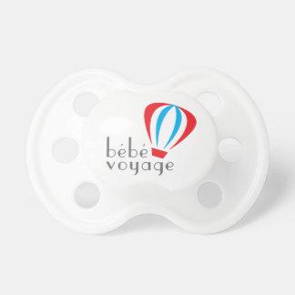 Chupete Pacificador del logotipo del viaje de Bebe