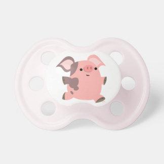 Chupete Pacificador deportivo lindo del bebé del cerdo del