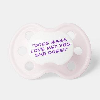 Chupete Pacificador divertido de la cita para el bebé