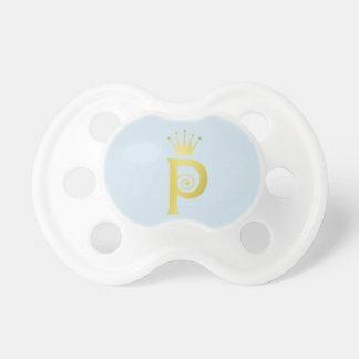 Chupete Pacificador inicial del bebé del monograma de la