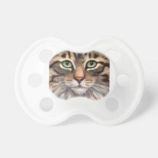 Chupete Pacificador lindo del bebé del gato de Tabby por
