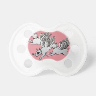 Chupete Pacificador/maniquí del bebé de bull terrier