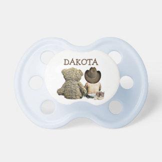 Chupete Pacificador personalizado del bebé del vaquero y