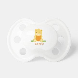 Chupete Pacificador personalizado del oso de peluche