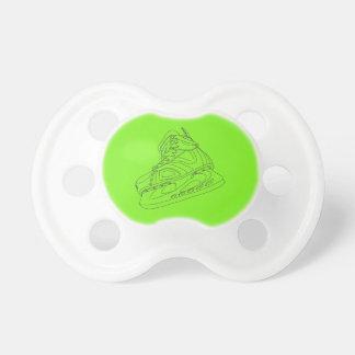 Chupete Pacificador verde del patín del hockey
