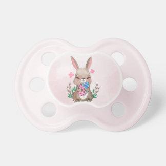 Chupete Pascua - conejito y huevos de la acuarela (1)