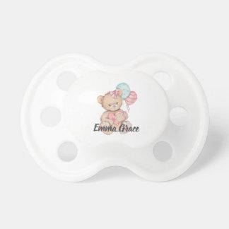 Chupete Pequeña princesa Balloons y niña del oso de