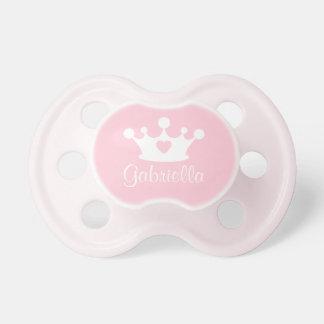 Chupete Pequeño pacificador rosa claro del bebé de la