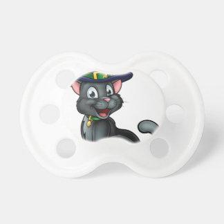 Chupete Personaje de dibujos animados del gato negro del