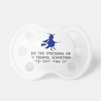 Chupete Pinchazo de mi diseño de Halloween del pulgar