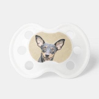 Chupete Pintura del Pinscher miniatura - perro original