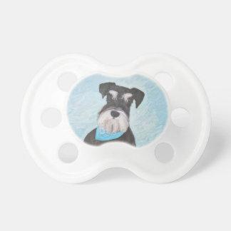 Chupete Pintura (miniatura) del Schnauzer - perro original