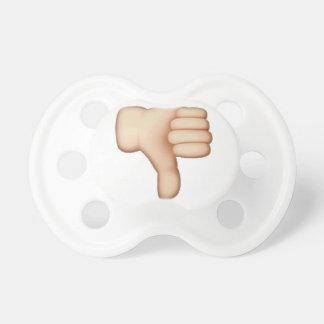 Chupete Pulgares abajo - Emoji