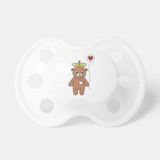Chupete reina del oso de peluche