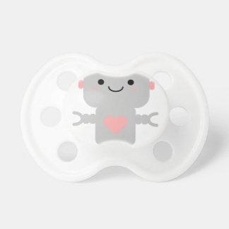 Chupete Robot lindo del corazón