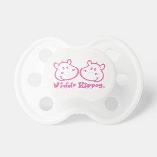 Chupete Ropa del bebé de los hipopótamos de Widdo