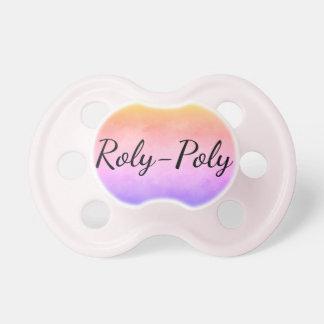 Chupete rosa en colores pastel Roly-polivinílico
