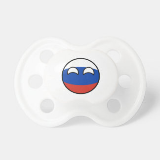 Chupete Rusia Geeky que tiende divertida Countryball