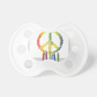 Chupete signo de la paz