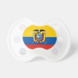 Chupete Símbolo de la bandera de país de Ecuador de largo
