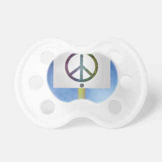Chupete símbolo de paz