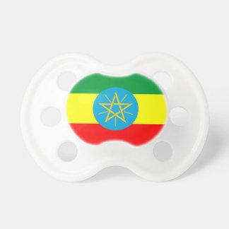 Chupete símbolo largo de la bandera de país de Etiopía