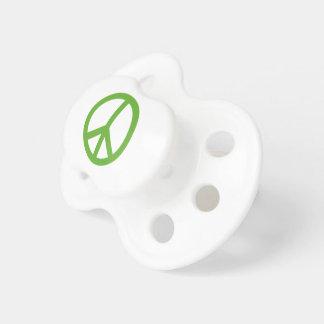 Chupete Símbolo verde del signo de la paz