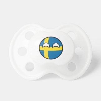 Chupete Suecia Geeky que tiende divertida Countryball