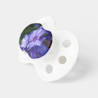 Chupete Tetina de bebé, flor púrpura