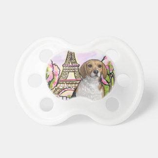 Chupete torre Eiffel París del beagle