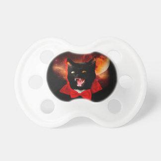 Chupete vampiro del gato - gato negro - gatos divertidos