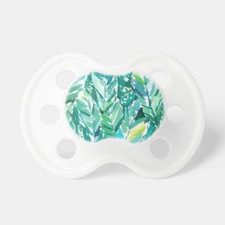 Chupete Verde de la SELVA de la HOJA del PLÁTANO tropical
