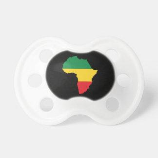 Chupete Verde, oro y bandera roja de África