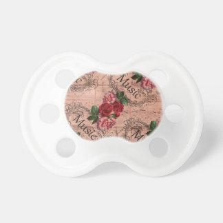 Chupete Vintage floral para el amor de la música