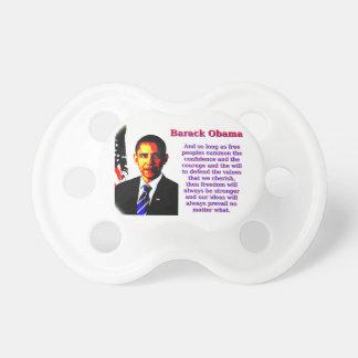 Chupete Y siempre y cuando gente libre - Barack Obama