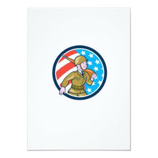 Ci americano del dibujo animado del soldado de la invitación 11,4 x 15,8 cm