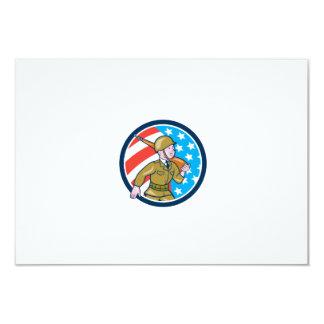 Ci americano del dibujo animado del soldado de la invitación 8,9 x 12,7 cm