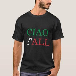 """""""Ciao usted"""" camisa italiana del humor del"""