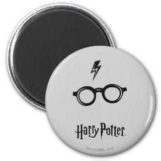 Cicatriz y vidrios del relámpago de Harry Potter Imanes