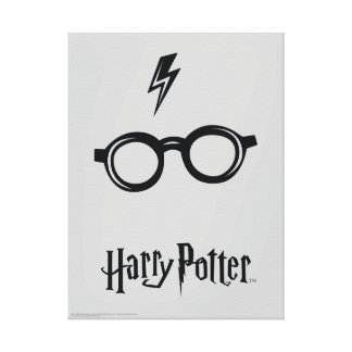 Cicatriz y vidrios del relámpago de Harry Potter Impresión En Lienzo