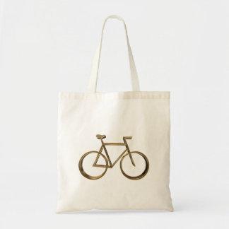 Ciclista de ciclo de la mirada de la bicicleta de bolso de tela