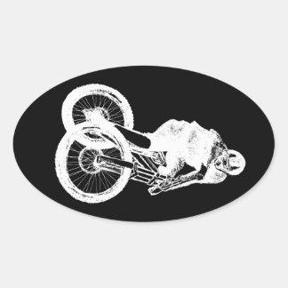 CICLISTA del motorista MTB BMX de la montaña Pegatina Ovalada