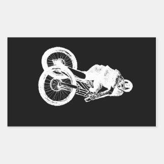 CICLISTA del motorista MTB BMX de la montaña Pegatina Rectangular
