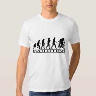 Ciclista del varón de la evolución camisas