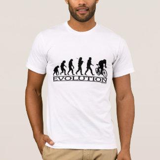 Ciclista del varón de la evolución camiseta